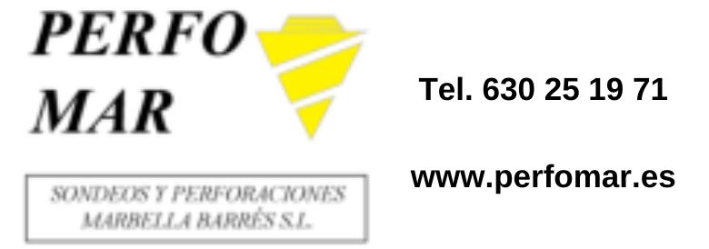 empresa de Construcción de Pozos de Agua en Málaga Perfomar